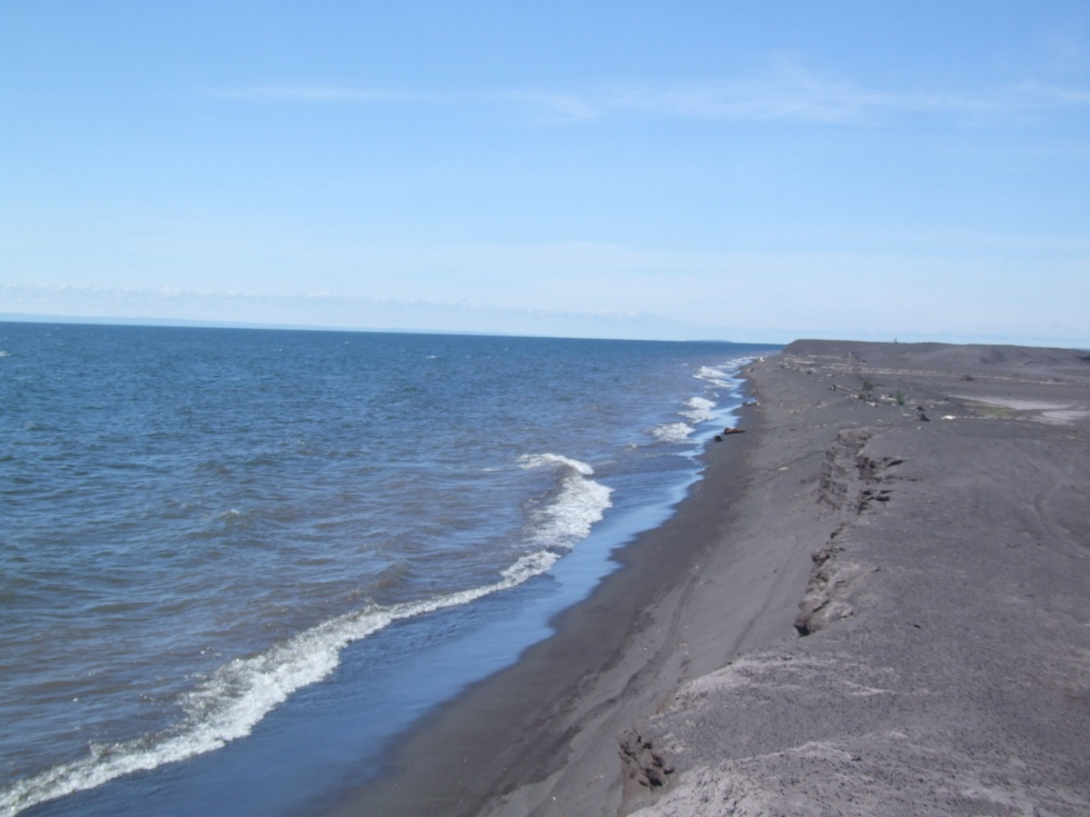 The black sands of Gay, Michigan, Keweenaw Peninsula.